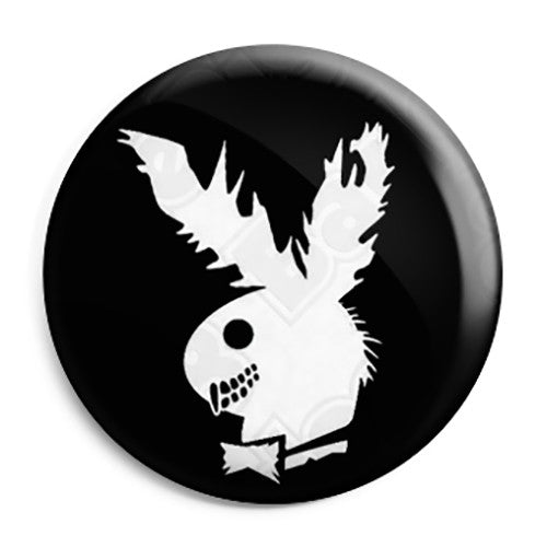 Playboy Zombie Bunny - Horror Halloween Button Badge