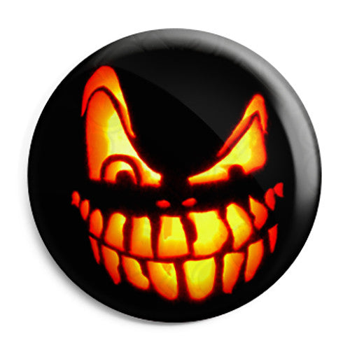 Halloween Pumpkin Teeth Lantern - Trick or Treat Button Badge