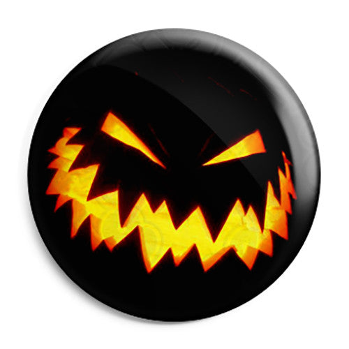 Halloween Pumpkin ZigZag Lantern - Trick or Treat Button Badge