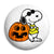 Halloween Snoopy Cartoon Pumpkin - Button Badge