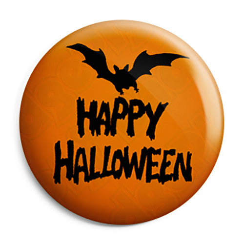 Happy Halloween Night Bat - Trick or Treat Button Badge