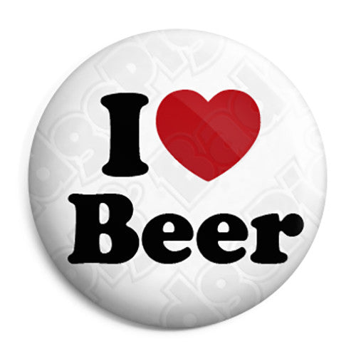 I Love Beer - Button Badge