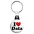 I Love (Heart) Data - Geek Work Spreadsheet Key Ring