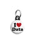 I Love (Heart) Data - Geek Work Spreadsheet Mini Keyring