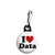 I Love (Heart) Data - Geek Work Spreadsheet Zipper Puller