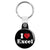 I Love (Heart) Excel - Geek Data Spreadsheet Key Ring