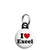 I Love (Heart) Excel - Geek Data Spreadsheet Mini Keyring