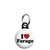 I Love Nigel Farage - UKIP Political Button Badge Mini Keyring