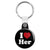 I Love Her - Romantic Valentine Heart Key Ring