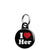 I Love Her - Romantic Valentine Heart Mini Keyring