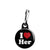 I Love Her - Romantic Valentine Heart Zipper Puller