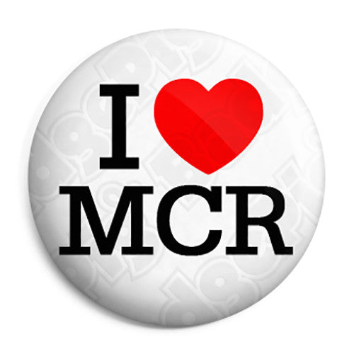 I Love Heart MCR - Support Manchester Terror Attack Victims Button Badge