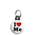 I Love Me - Romantic Valentine Heart Mini Keyring