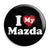 I Love (Heart) My Mazda - Car Button Badge