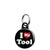 I Love (Heart) My Tool - Rude Mini Keyring