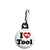 I Love (Heart) My Tool - Rude Zipper Puller