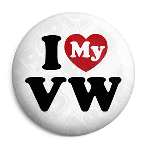 I Love My VW - Button Badge
