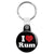 I Love (Heart) Rum - Alcohol Key Ring