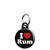 I Love (Heart) Rum - Alcohol Mini Keyring