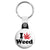 I Love Weed - Cannabis Key Ring