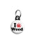 I Love Weed - Cannabis Mini Keyring