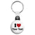I Love My (Your Text Here) - Custom Printed Key Ring