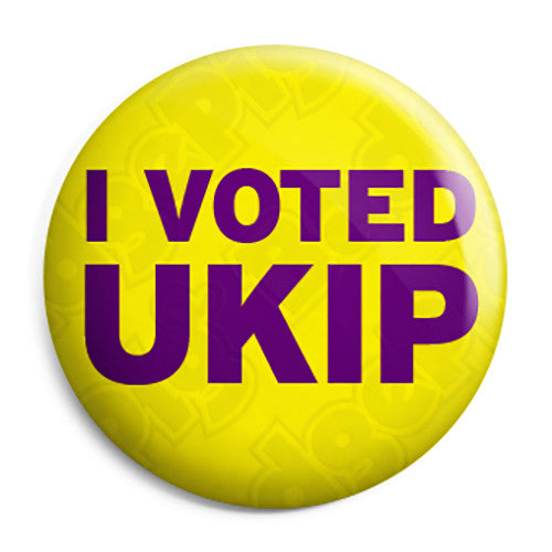 I Voted UKIP - Farage Political Button Badge