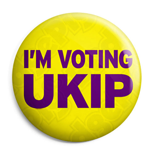 I'm Voting UKIP - Farage Political Button Badge