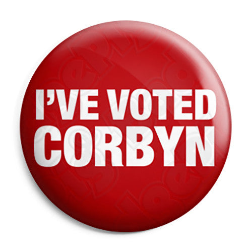 I've Voted Jeremy Corbyn - Labour Party Leader Button Badge