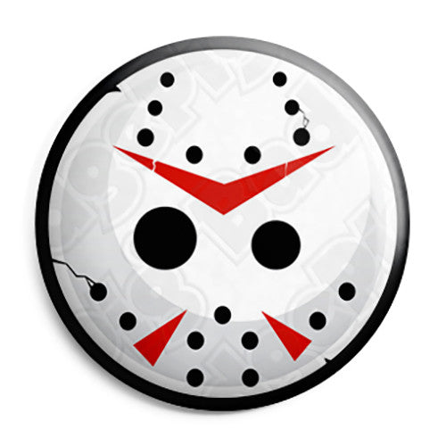 Jason's Mask - Friday the 13th Horror Film Button Badge