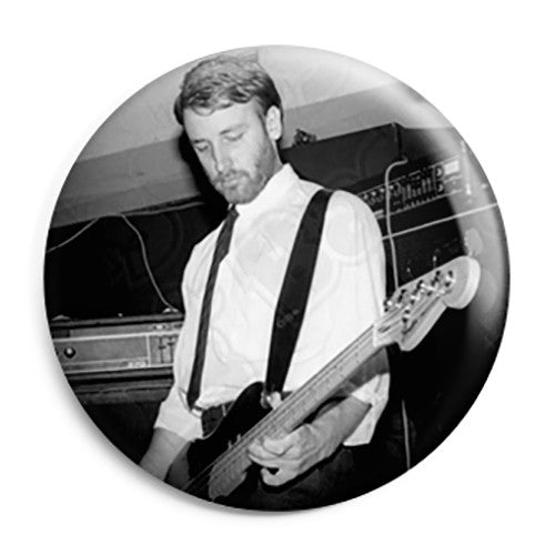 "Joy Division - Peter ""Hooky"" Hook Photo - Post Punk Button Badge"