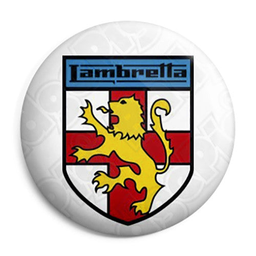 Lambretta English Shield - Button Badge