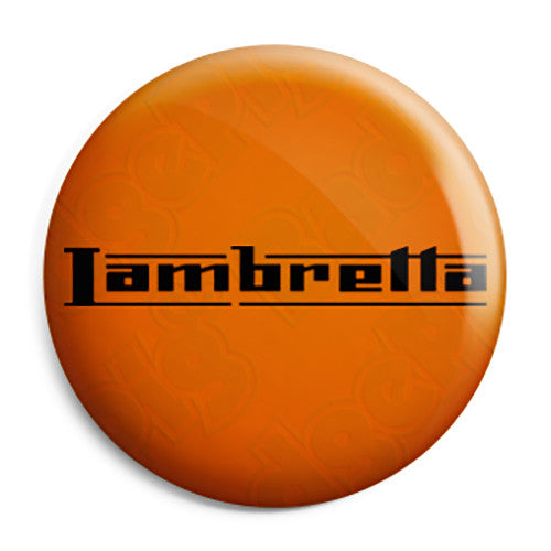 Lambretta Scooter Classic Logo - Scooterist Button Badge