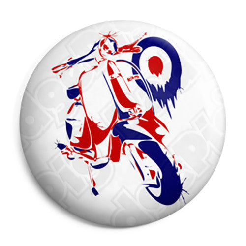 Lambretta Mod Painting - Scooter Button Badge