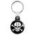 Lucky 13 Skull and Crossbones - Pirate Biker Flag Key Ring