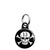 Lucky 13 Skull and Crossbones - Pirate Biker Flag Mini Keyring