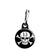 Lucky 13 Skull and Crossbones - Pirate Biker Flag Zipper Puller