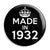 Made in 1932 - Keep Calm Birthday Year of Birth Pin Button Badge