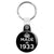 Made in 1933 - Keep Calm Birthday Year of Birth Key Ring