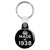 Made in 1938 - Keep Calm Birthday Year of Birth Key Ring