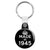 Made in 1945 - Keep Calm Birthday Year of Birth Key Ring