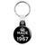 Made in 1967 - Keep Calm Birthday Year of Birth Key Ring