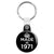 Made in 1971 - Keep Calm Birthday Year of Birth Key Ring