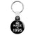 Made in 1995 - Keep Calm Birthday Year of Birth Key Ring