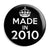 Made in 2010 - Keep Calm Birthday Year of Birth Pin Button Badge