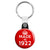 Made in 1922 - Keep Calm Birthday Year of Birth Key Ring