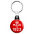 Made in 1923 - Keep Calm Birthday Year of Birth Key Ring