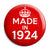 Made in 1924 - Keep Calm Birthday Year of Birth Pin Button Badge