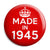 Made in 1945 - Keep Calm Birthday Year of Birth Pin Button Badge