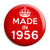 Made in 1956 - Keep Calm Birthday Year of Birth Pin Button Badge